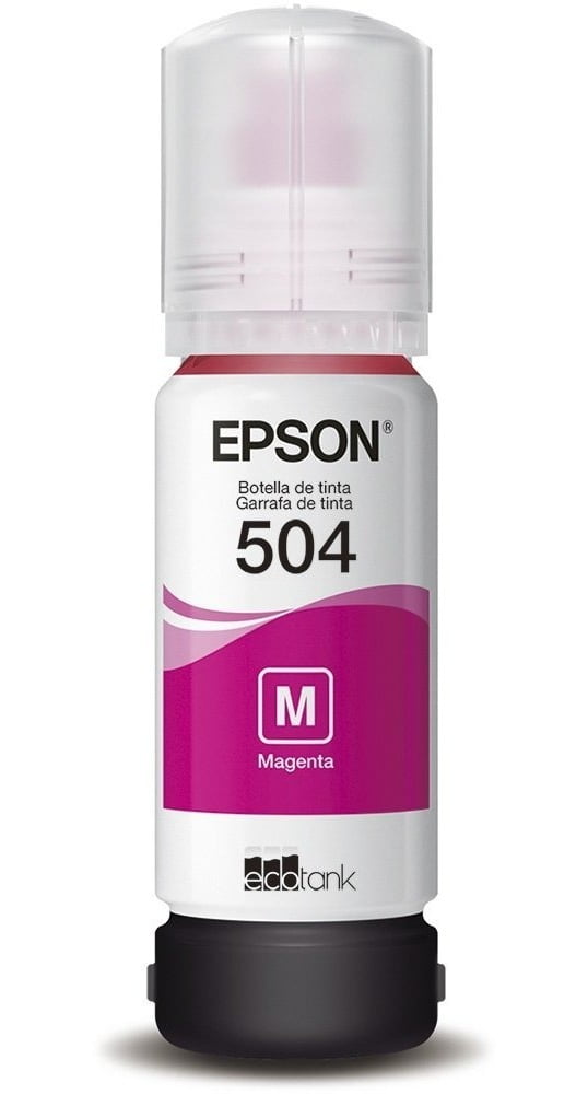 Refil de Tinta Original Epson 504 - Magenta - T504320