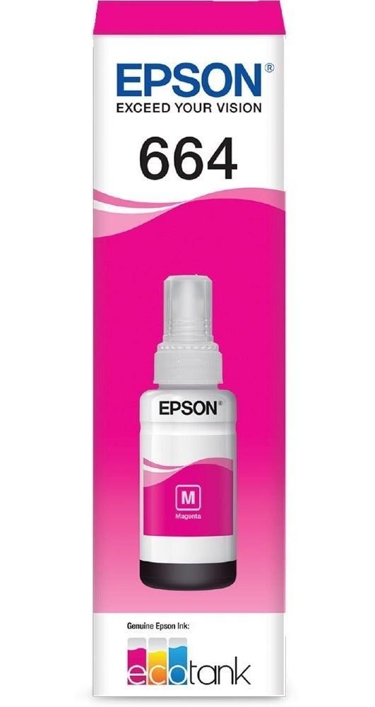 Refil de Tinta Original Epson 664 - Magenta - T664320