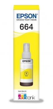 Refil de Tinta Original Epson 664 - Amarelo - T664420